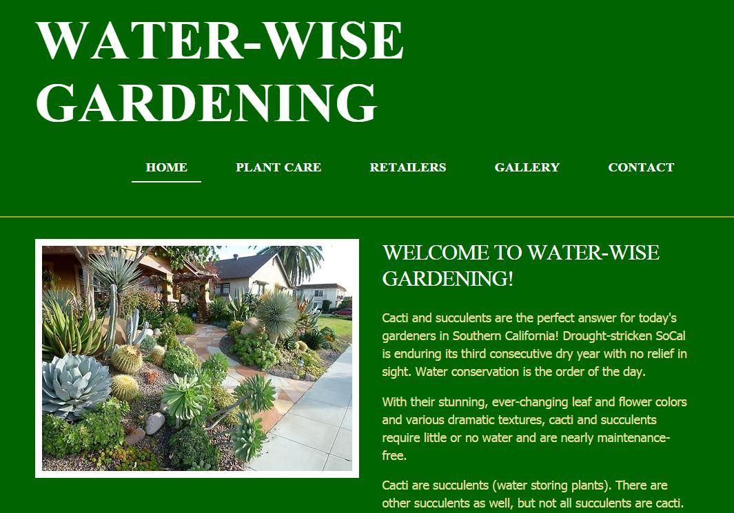 Water-Wise Gardening