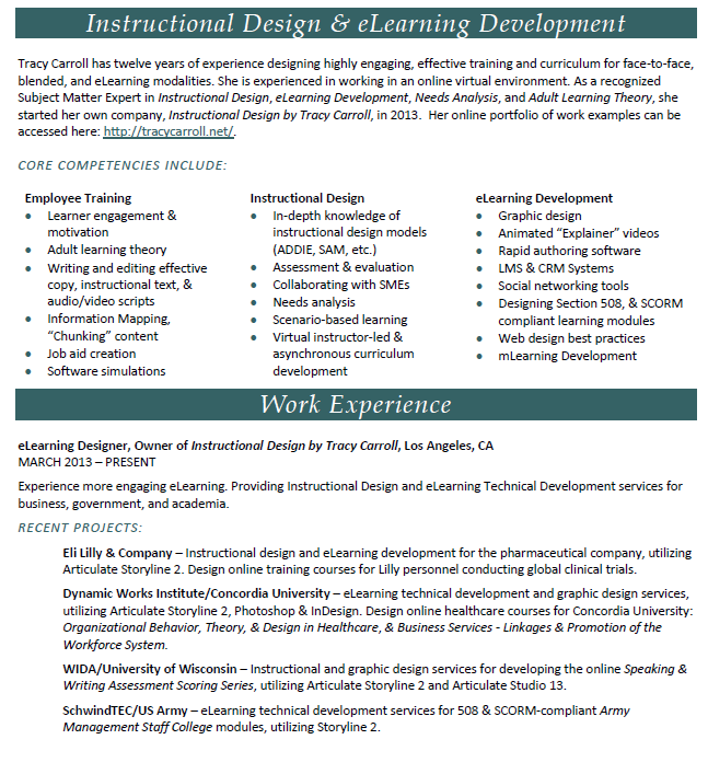 Instructional Designer U0026 E Learning Professional  Instructional Designer Resume
