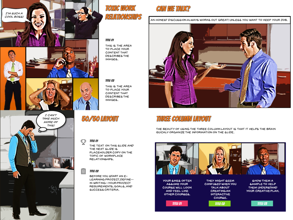 Articulate presenter comic book template instructional design by articulate presenter 360 maxwellsz